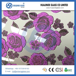 Decorative building glass ice flower glass,door window backlit ceiling glass